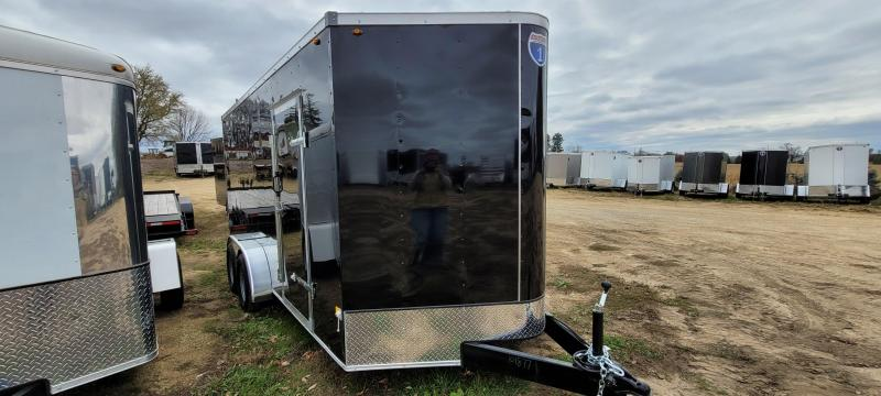 2021 Interstate 7x16 Enclosed Cargo Trailer-Black with Ramp