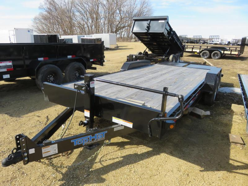 2019 Top Hat Trailers 16K EH Equipment Trailer with Jumbo Ramps
