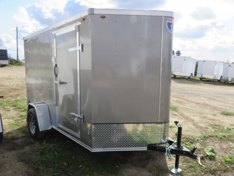 2021 Interstate 6x10 Enclosed Cargo Trailer-Pewter with Ramp