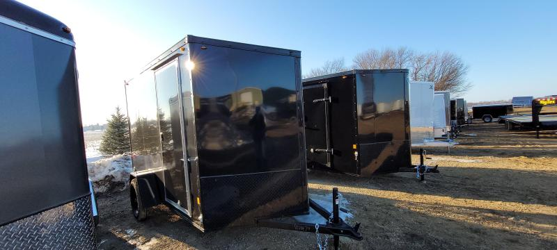 2021 Interstate 1 Trailers 6x10 IFC BLACKOUT Enclosed Cargo Trailer Slant Nose-Rear Ramp