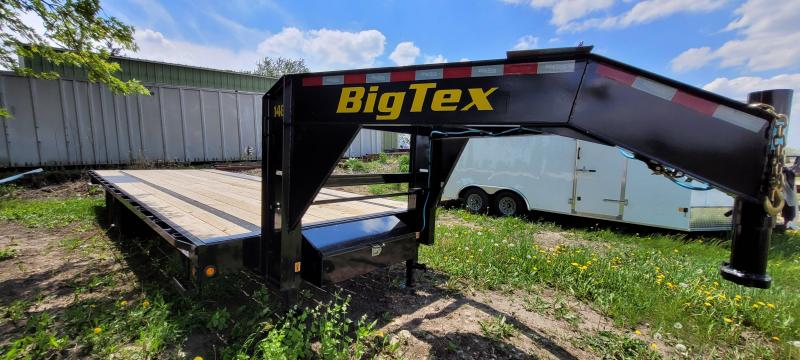 2021 Big Tex Trailers 14gn-25 Flatbed Trailer with slide in ramps