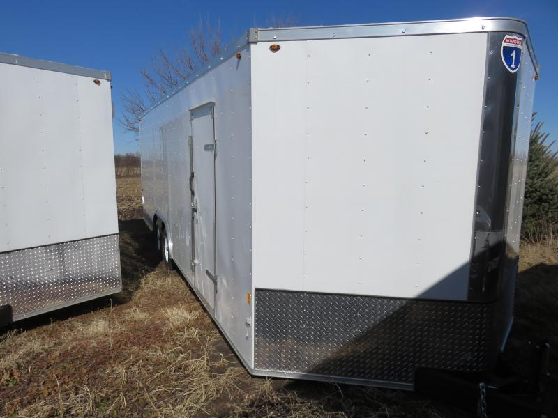 2019 Interstate 8.5x24 IFC Series Enclosed Cargo Trailer White with Ramp