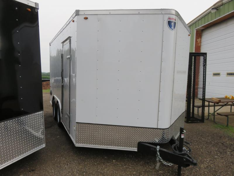 2020 Interstate 8.5x14 Enclosed Cargo Trailer-White with Ramp