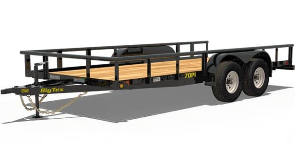 2021 Big Tex Trailers 70PI-18X 83x18 Utility Trailer with Rampgate