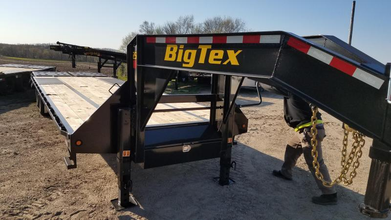 2021 Big Tex Trailers 25GN-25+5 Equipment Trailer with mega ramps