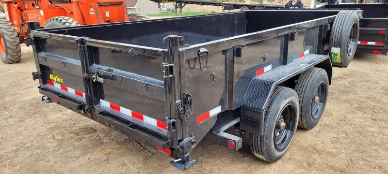 2021 Big Tex Trailers 16K 14ft Dump Trailer with Hydraulic Jack, Wireless Remote, and Solar Charger