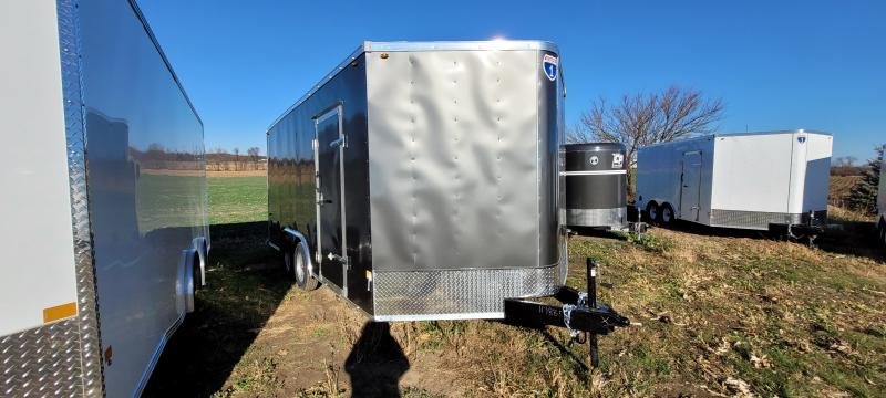 2021 Interstate 8.5x16 Enclosed Cargo Trailer Charcoal with Ramp