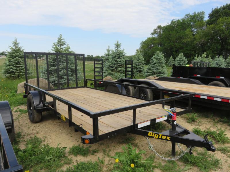 2021 Big Tex Trailers 35SA-14X83 Utility Trailer with rear Rampgate