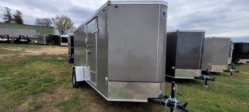 2021 Interstate 6x12 Enclosed Cargo Trailer-Pewter with ramp