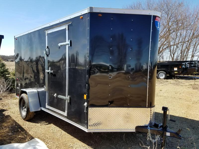 2021 Interstate 6x12 Enclosed Cargo Trailer-Black with Barn Doors