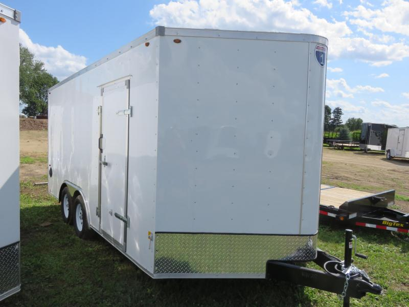 2020 Interstate 8.5x16 Enclosed Cargo Trailer White with Ramp