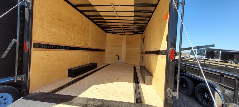 2021 Interstate 1 Trailers 8.5x16 IFC Enclosed Cargo Trailer BLACKOUT with Extra Height and Ramp