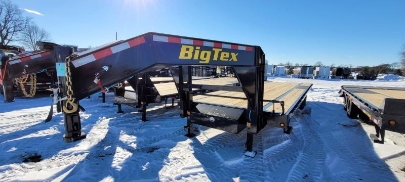 2022 Big Tex Trailers 14gn-25 Flatbed Trailer with slide in ramps