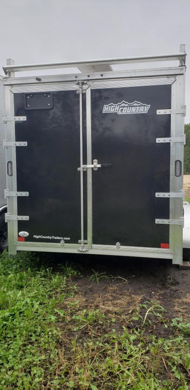 2022 ALCOM 7x14 Enclosed Cargo Trailer-Black, Screwless