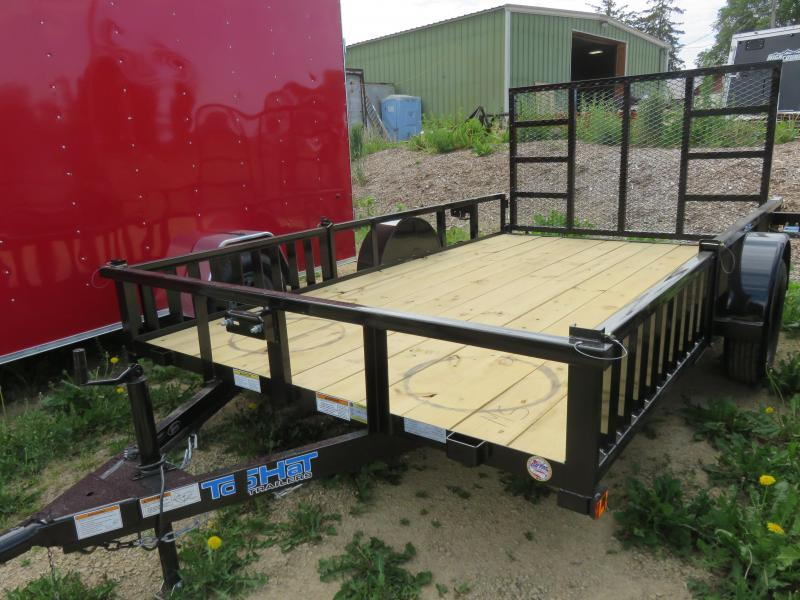 2021 Top Hat Trailers 12X83 QH ATV Trailer with rear Rampgate and Side ramps