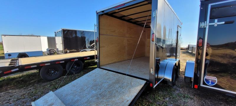 2021 Interstate 7x14 Enclosed Cargo Trailer-Charcoal with Ramp