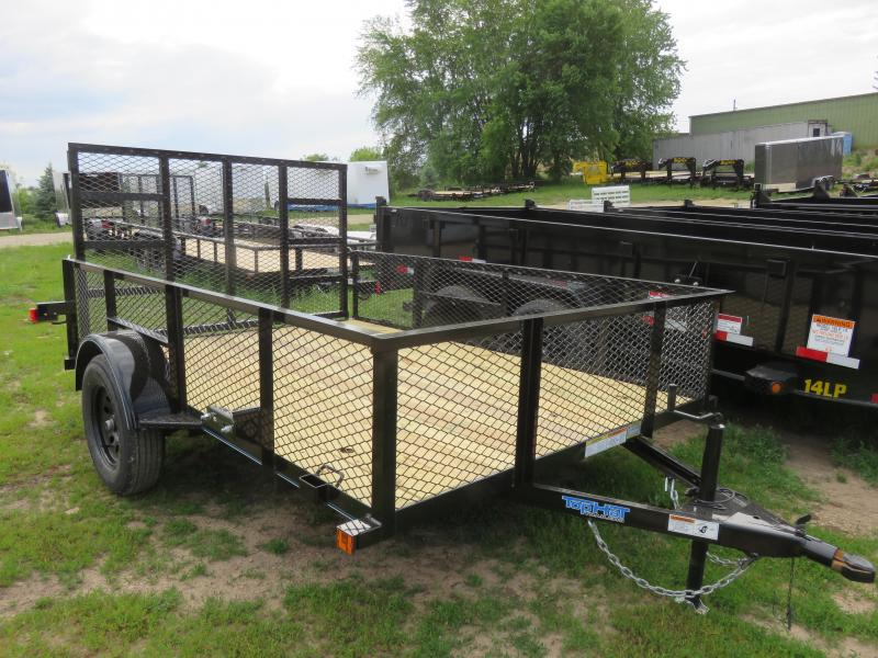 """2021 Top Hat Trailers 10x83 Utility Trailer with 24"""" Expanded Metal Sides"""