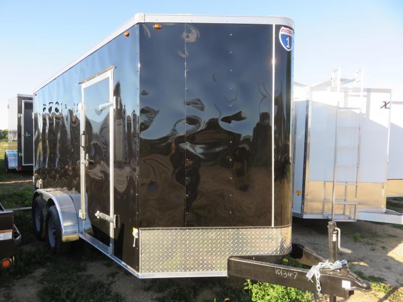 2020 Interstate 7x14 Enclosed Cargo Trailer-Black with Barn Doors