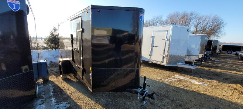 2021 Interstate 1 Trailers 6x12 IFC BLACKOUT Enclosed Cargo Trailer with ramp