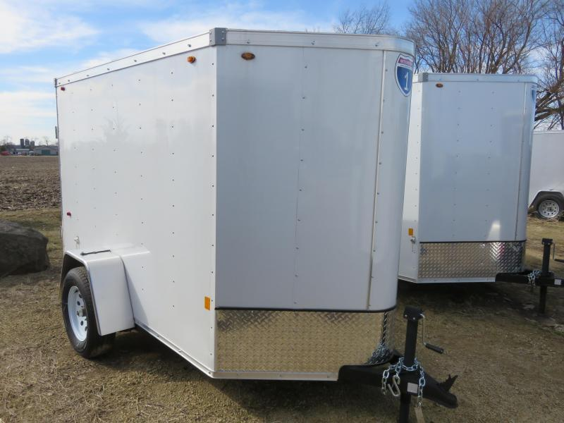 2021 Interstate 5x8 Enclosed Cargo Trailer-White with Barn Doors