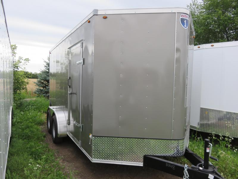 2020 Interstate 7x14 Enclosed Cargo Trailer-Pewter with Ramp