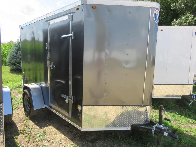 2020 Interstate 6x10 Enclosed Cargo Trailer-Charcoal with Ramp