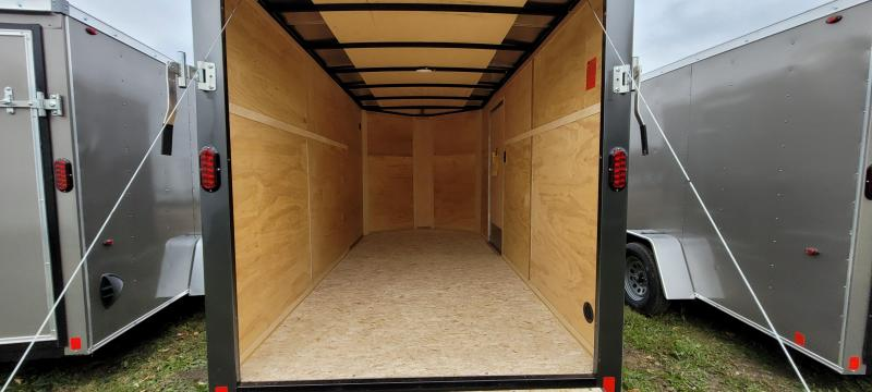2021 Interstate 6x12 Enclosed Cargo Trailer-Charcoal with Ramp
