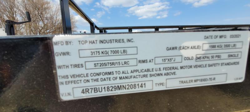 2021 Top Hat Trailers 18X83 MP Utility Trailer