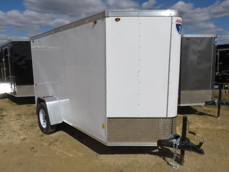 2021 Interstate 5x10 Enclosed Cargo Trailer-white with ramp