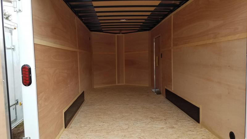 2021 Interstate 7x16 10K Enclosed Cargo Trailer White with Barn Doors