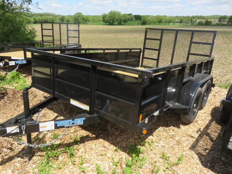 "2020 Top Hat Trailers 12x83 Tandem Utility Trailer with 24"" Metal Sides"