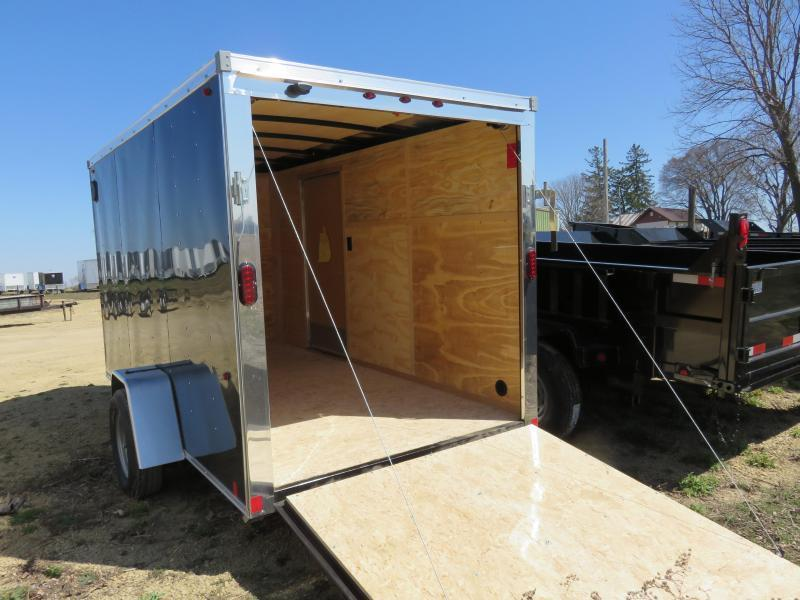 2021 Interstate 6x12 Enclosed Cargo Trailer-Black with Ramp