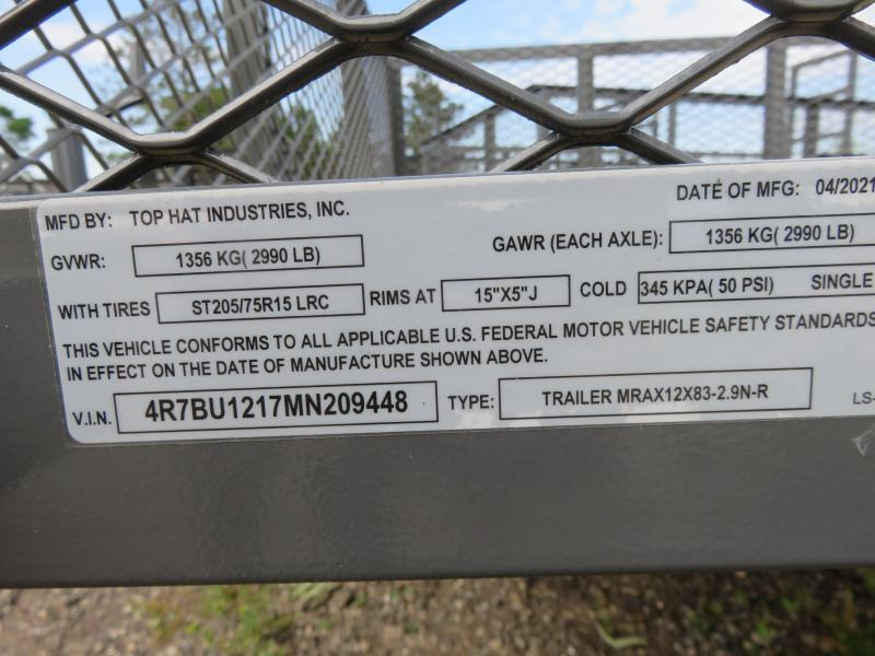 2021 Top Hat Trailers 12x83 MRAX Utility Trailer-Gray