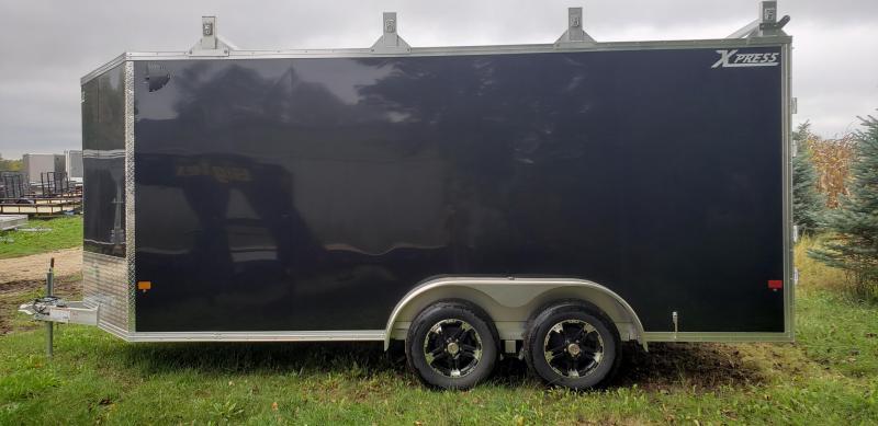 2022 ALCOM 7x16 Enclosed Cargo Trailer- Black, Screwless