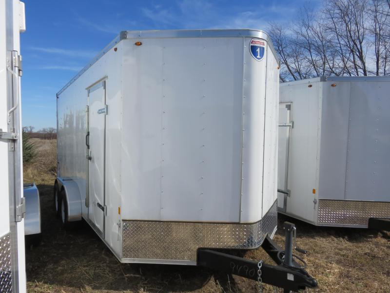 2019 Interstate 7x16 Enclosed Cargo Trailer-White with Barn Doors