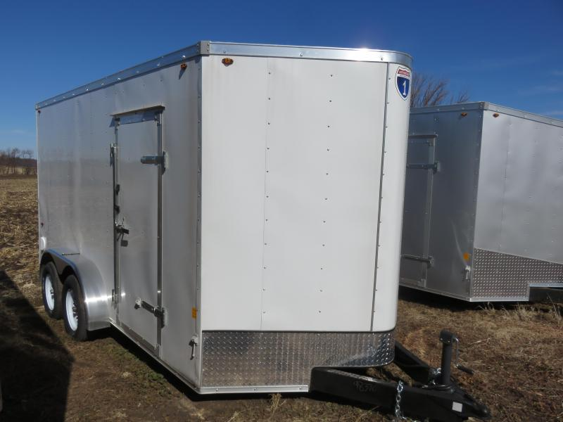 2019 Interstate 7x14 Enclosed Cargo Trailer-White with Ramp