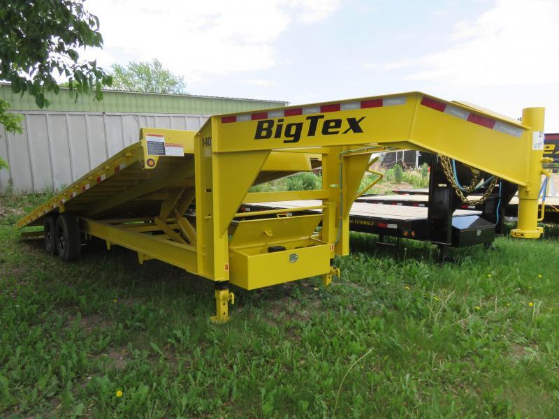 2021 Big Tex Trailers 14K 102x26 Deckover Tilt Gooseneck Equipment Trailer
