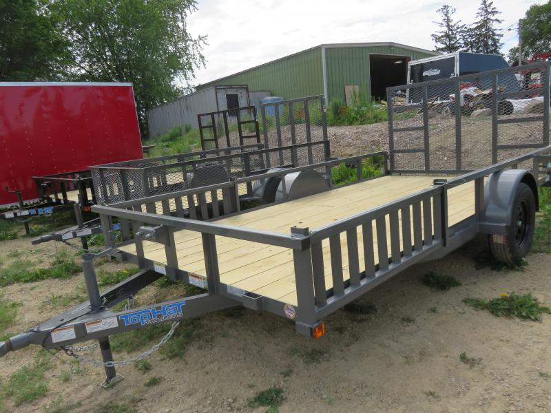 2021 Top Hat Trailers 14X83 QH ATV Trailer with Side and Rear Ramps