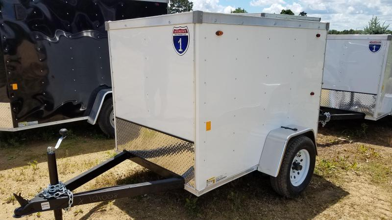 2020 Interstate 4x6 Enclosed Cargo Trailer-White
