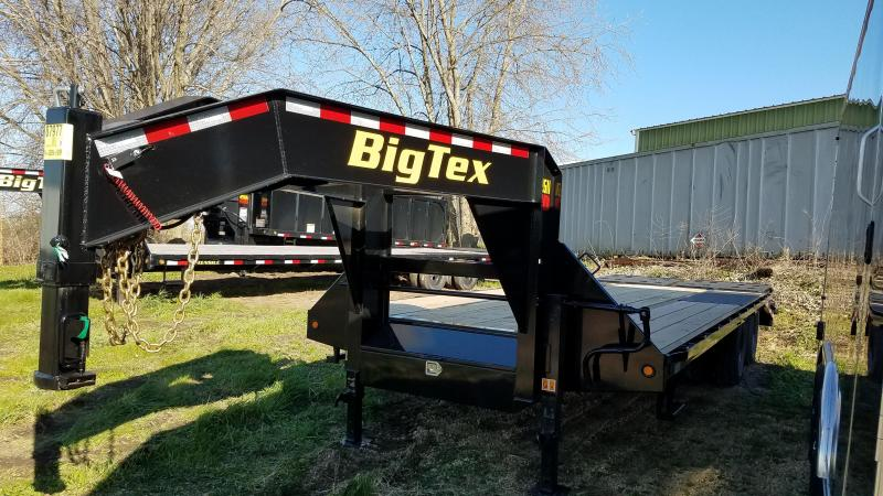 2020 Big Tex Trailers 22GN-20+5 Equipment Trailer with Mega Ramps
