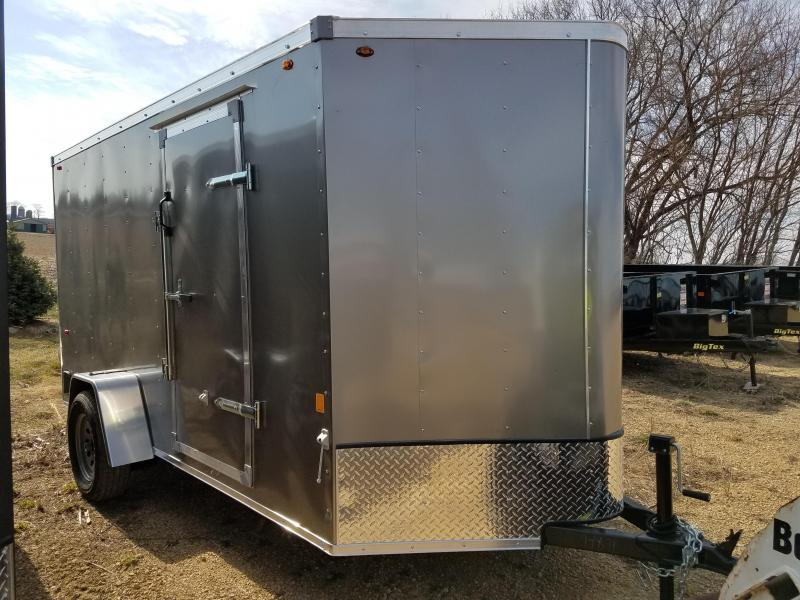 2020 Interstate 6x12 Enclosed Cargo Trailer-Pewter with ramp