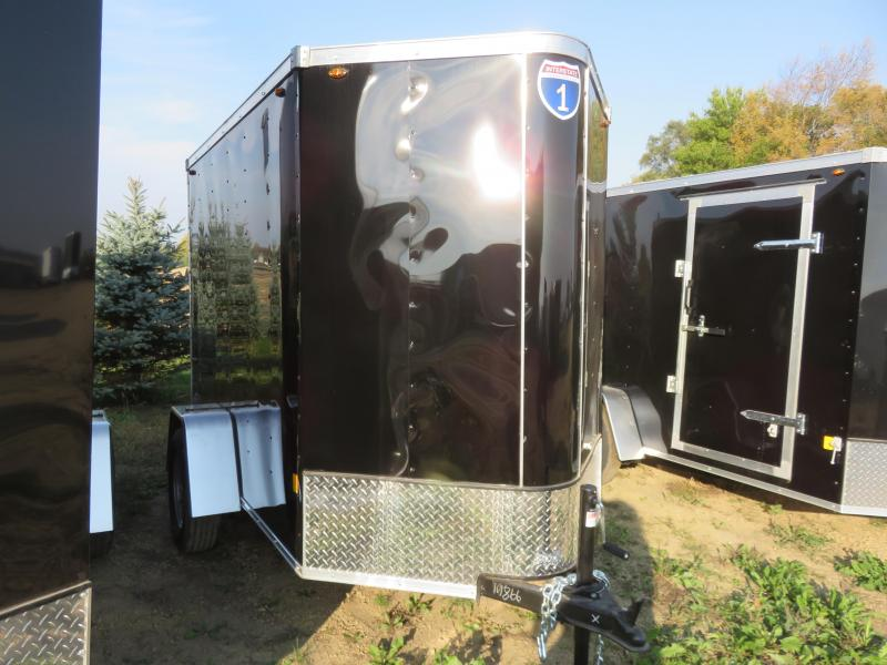 2021 Interstate 5x8 Enclosed Cargo Trailer-Black with Ramp & Extra Height