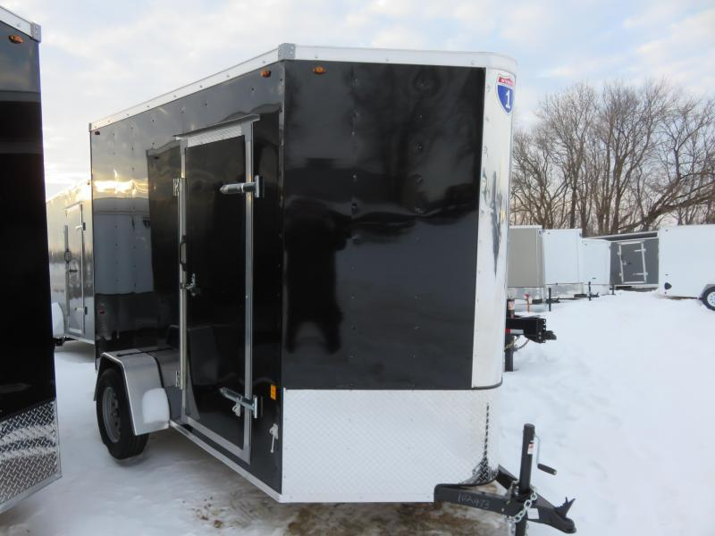 2021 Interstate IFC 6x10  Enclosed Cargo Trailer-black-Extra Heigt