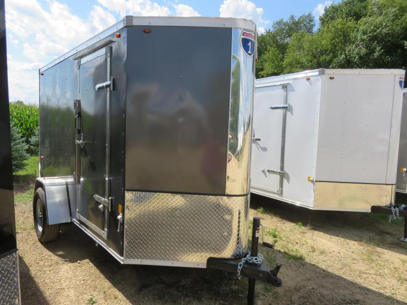 2020 Interstate 5x10 IFC Series Enclosed Cargo Trailer-Charcoal with rear Ramp