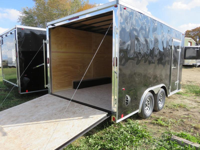 2021 Interstate 8.5x14 Enclosed Cargo Trailer-Black with Ramp