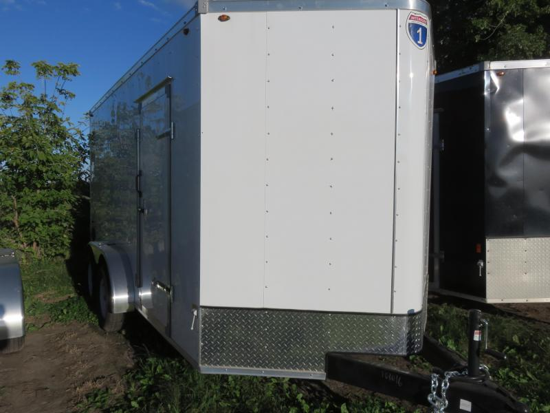 2020 Interstate 7x14 Enclosed Cargo Trailer-White with Barn Doors