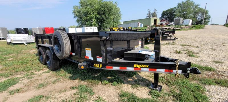 2021 Big Tex Trailers 16LP-16 Dump Trailer with Solar Charger, Hydraulic Jack, and Remote