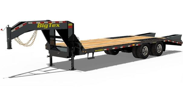 2021 Big Tex Trailers 22GN-25+5  Equipment Trailer with Mega Ramps