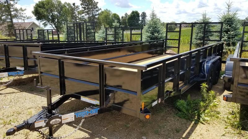 """2020 Top Hat Trailers 20x83 Utility Trailer with 24"""" Metal Sides"""