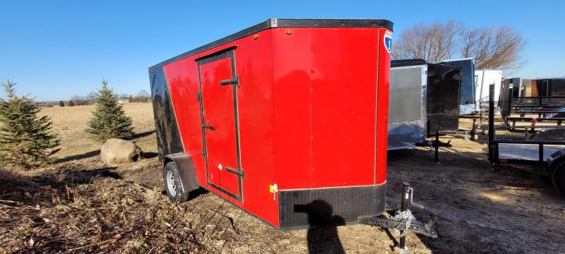 2021 Interstate 1 Trailers 6x12 Enclosed Cargo Trailer- Red and Black with Ramp
